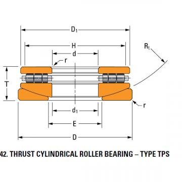 thrust cylindrical roller bearing 120TPS151
