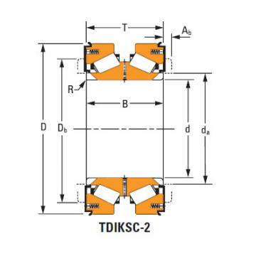 Tdik Thrust Tapered Roller Bearings H228643dw H228610