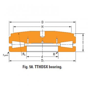 Thrust tapered roller bearings T9030fs-T9030sa
