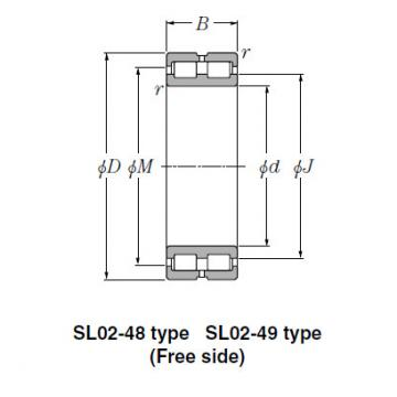 Bearing NTN Type SL  Cylindrical Roller Bearings SL02-4836