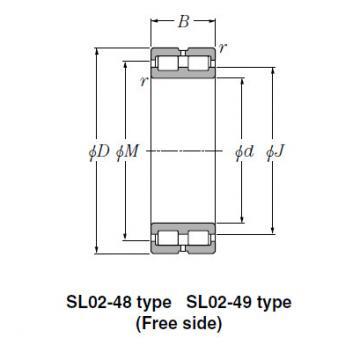 Bearing NTN Type SL  Cylindrical Roller Bearings SL02-4844