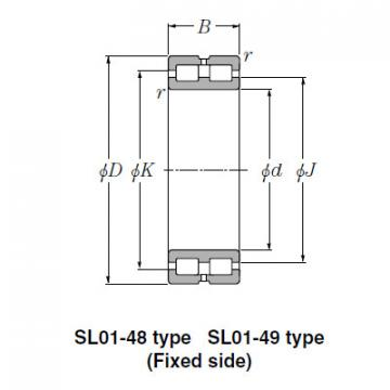 Bearing NTN Type SL  Cylindrical Roller Bearings SL01-4836