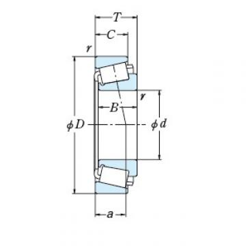 NSK TAPERED ROLLER BEARINGS SINGLE ROW 82562/82950