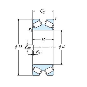 Bearing TAPERED ROLLER BEARINGS NSK 550TFD7601