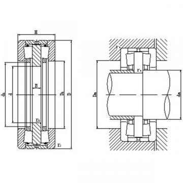 Bidirectional thrust tapered roller bearings 130TFD2801