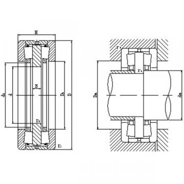 Bidirectional thrust tapered roller bearings 180TFD4001