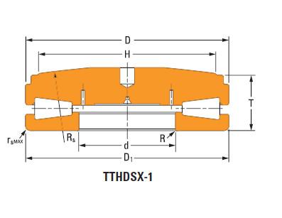 Thrust tapered roller bearings 148TTsX926OB452
