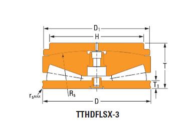 Thrust tapered roller bearings T17020fs-T17020s