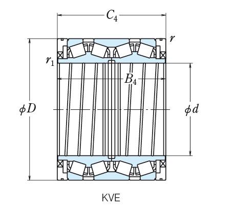 NSK FOUR ROW TAPERED ROLLER BEARINGS  240KVE3302E STF279KVS3952Eg