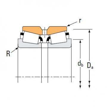 Tapered roller bearing LL771948 LL771911CD