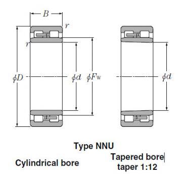 Bearings Tapered Roller Bearings NN3044K