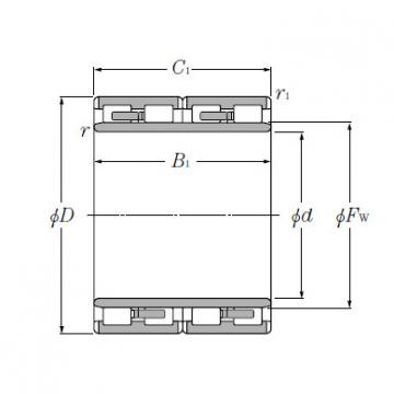 NTN Cylindrical Roller Bearings Four Row Bearing 4R13603 4R3225