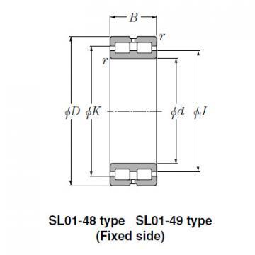 Bearing NTN Type SL  Cylindrical Roller Bearings SL02-4922