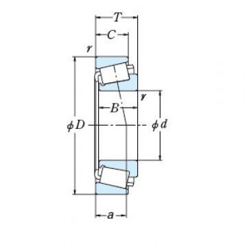 NSK TAPERED ROLLER BEARINGS SINGLE ROW 88900/88128