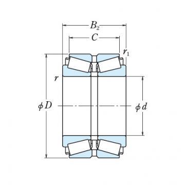 Bearing NSK Double Row 93800/93128D+L