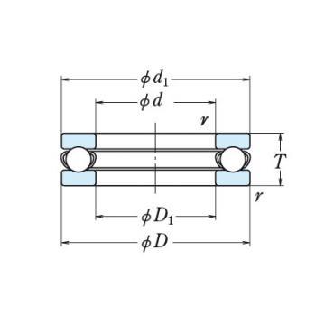 NSK single-direction thrust ball bearings 512/600