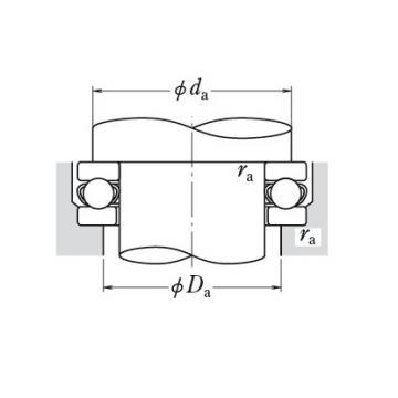 NSK single-direction thrust ball bearings 51372