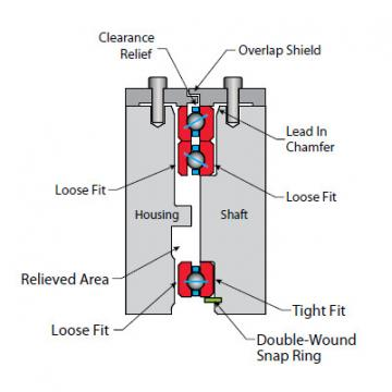 Bearing Thin Section Bearings Kaydon KB140AR0