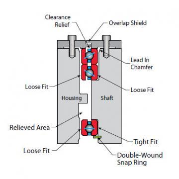 Bearing Thin Section Bearings Kaydon NA075AR0